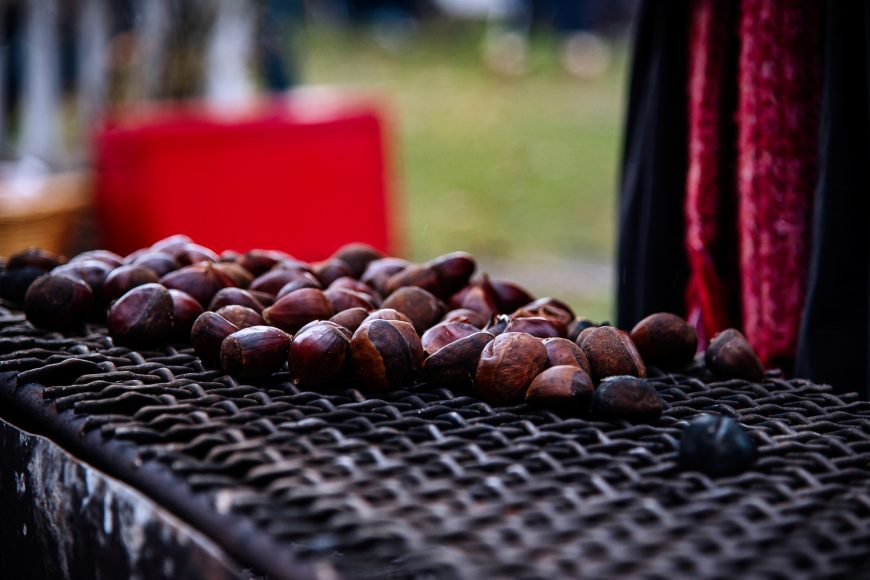 Chestnuts on an open fire at Port Colborne Christmas Festival